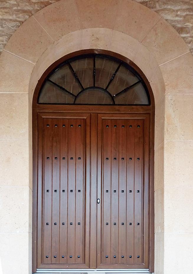 Puerta rústica aluminio