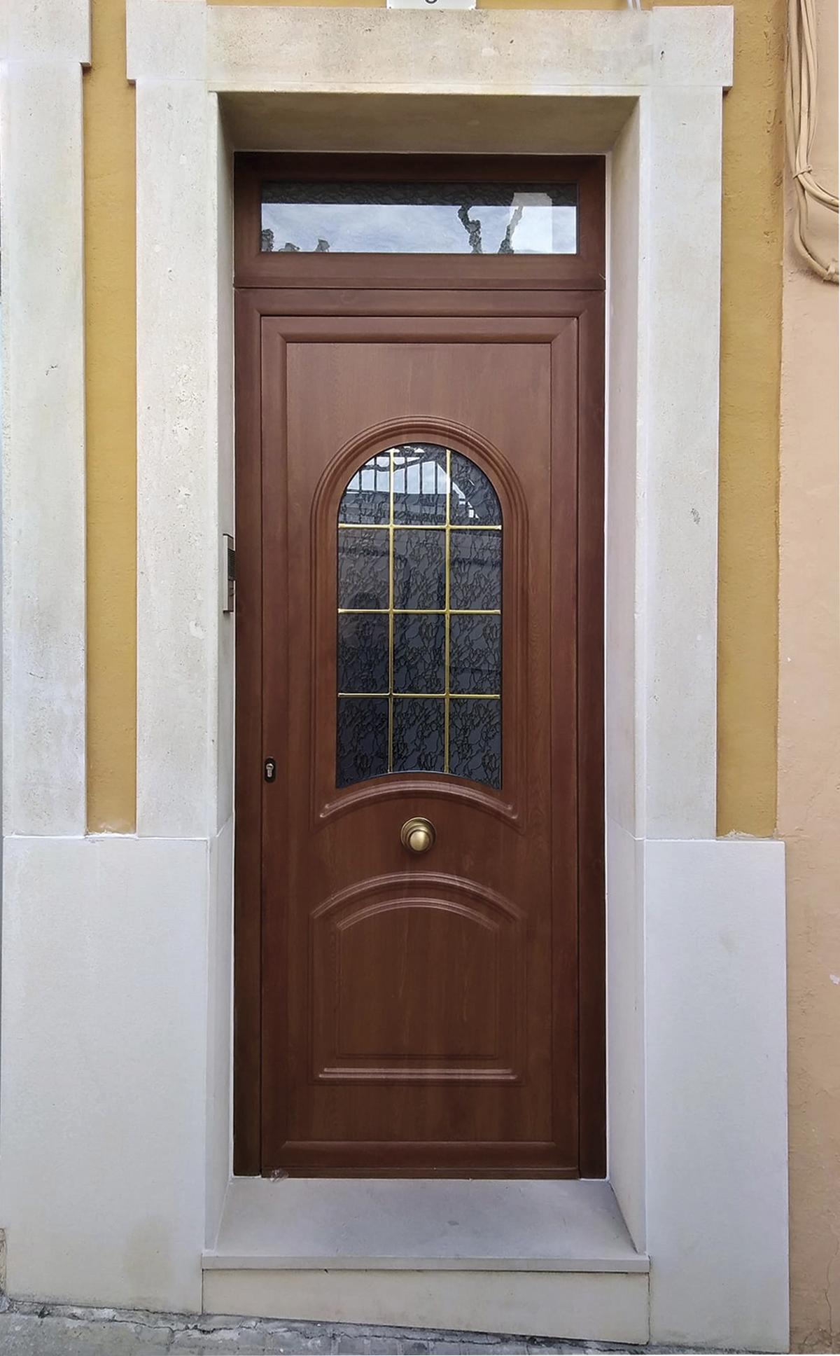 Puerta principal aluminio