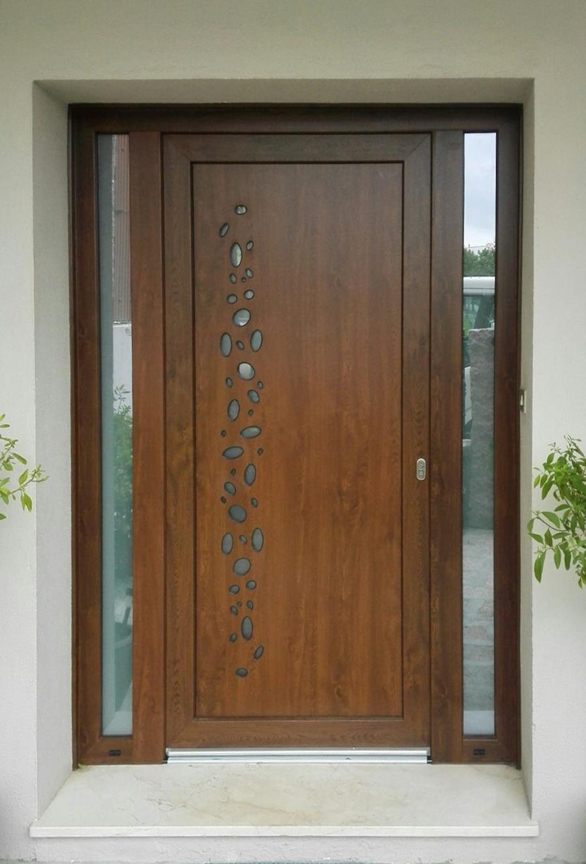 Puerta vidrio oval